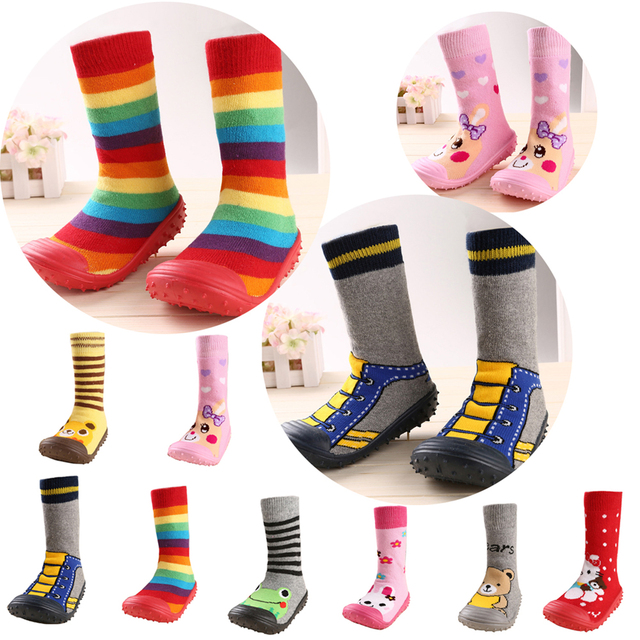 e6d06b667 Nuevo diseño para bebés bonitos calcetines de bebé de dibujos animados con  suelas de goma calcetín
