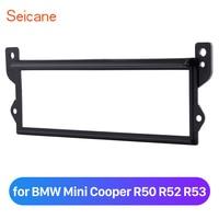 Seicane Placa Do Painel Do Carro 1 Din em Traço Kit Guarnição para BMW Mini Cooper R50 R52 R53 Instalação Quadro Remontagem|Fáscias| |  -