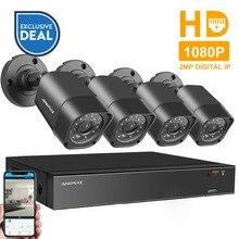 Anpviz H.265 4CH 1080P NVR Kit P2P 2MP Indoor Outdoor IR Night Vision Security Bullet IP Camera Video Surveillance CCTV System