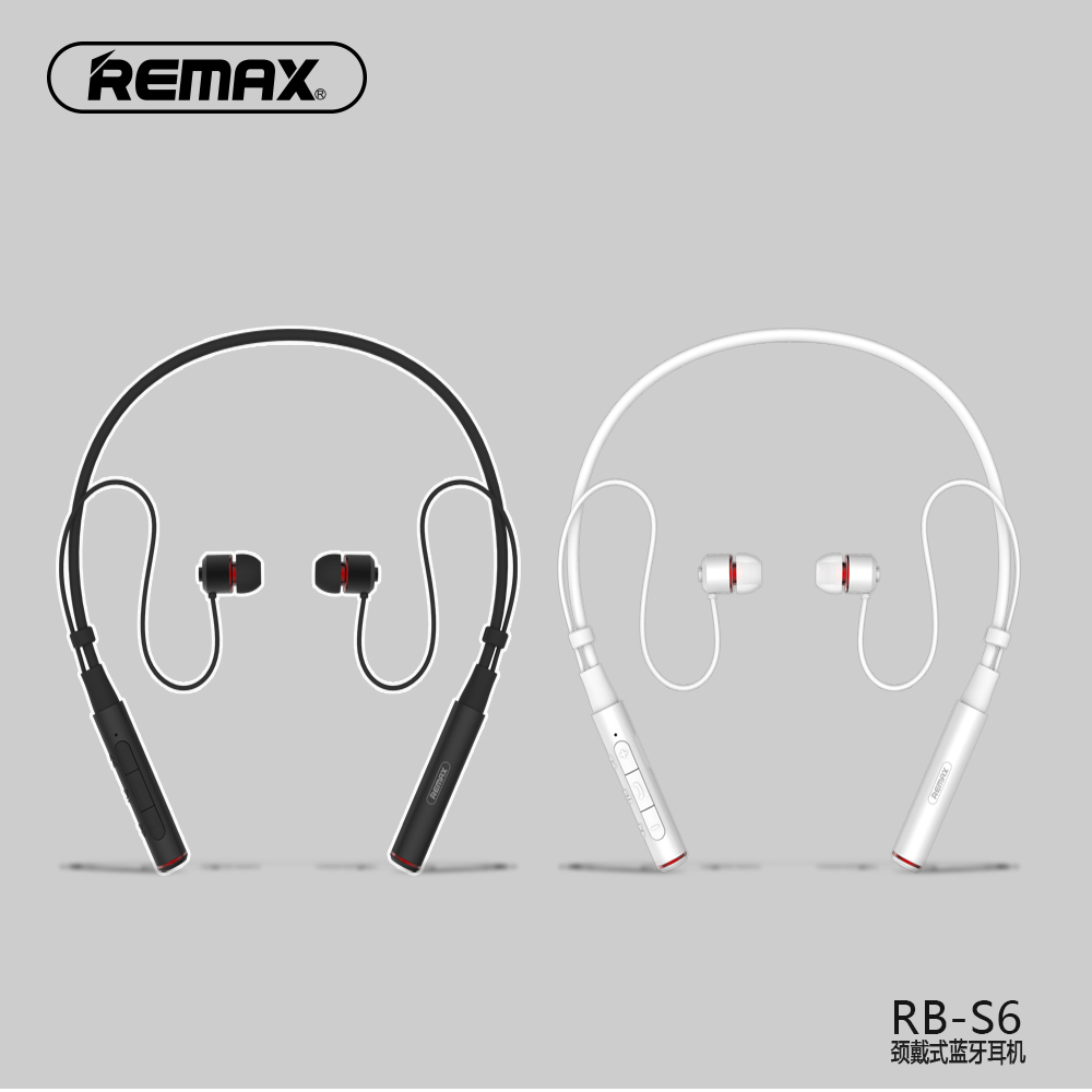<font><b>Remax</b></font> RB-S6 Neckband Sport Bluetooth Kopfhörer Drahtlose Magnetic Vibration Earbuds mit Mic Musik Stereo Sound Für iPhone image