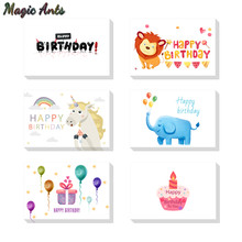 Birthday Unicorn Thank You Card With Envelope Custom Invitations Note Blank Inside Greeting Cards 6x4
