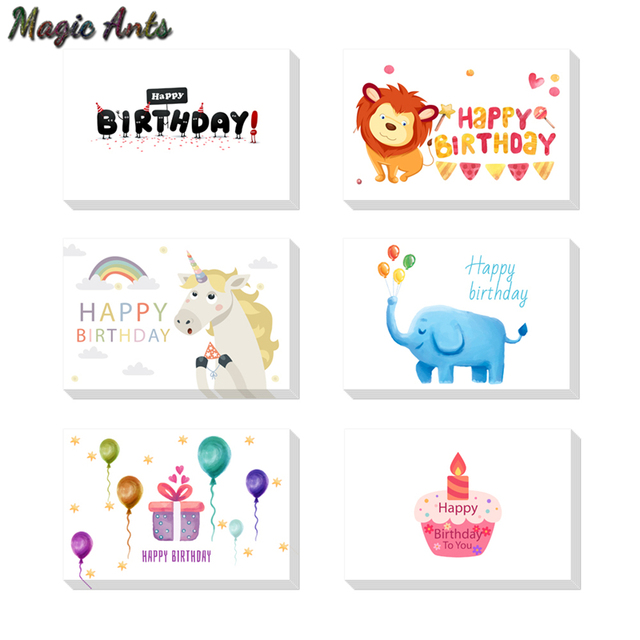 Birthday unicorn Thank you card with envelope custom Invitations