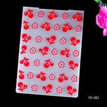 2017 New Arrival Scrapbook Cherry and Flowers Design DIY Paper Cutting Dies Scrapbooking Plastic Embossing Folder