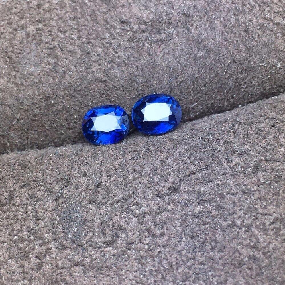 Edler Schmuck Hell Aig Zertifiziert 1.27ct Unheat Royal Blau Natürliche Sapphire Edelsteine Lose Edelsteine Lose Steine Reine WeißE