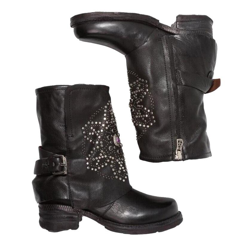 Rond Dames Black Bout Talons Bottes Ikai Boucle Zipper Xwc2623 Cuir En 5 Carrés Femmes Chaussures Lala Pu Automne Cheville wnZ0gpqqU