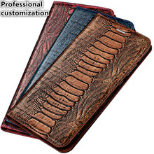 YM05 Ostrich Foot Pattern Genuine Leather Magnet Phone Bag For OnePlus 7 Pro(6.67′) Case For OnePlus 7 Pro Flip Case