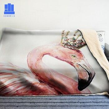 GNORRIS Flamingo De Gran Tamaño Famil Lambskin 3D Impresión Super Suave Manta De Tiro Caliente Nether Sofá Perezoso Cama Manta Capa