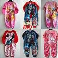 Crianças Macacão de inverno do Velo Dos Desenhos Animados olá kitti menina roupa do bebê Da Princesa Romper para a menina macacões manga longa sleepwear KD064