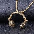 Colar para Homens & Mulheres Música Fones De Ouvido Fones De Ouvido de Aço inoxidável Colar de Pingente de presente de Natal