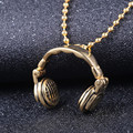 Stainless Steel Headphones Necklace for Men & Women Music Headphones Pendant Necklace Christmas present