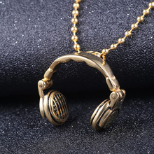 eejart  Stainless Steel Headphones Necklace for Men & Women Music Headphones Pendant Necklace Christmas present