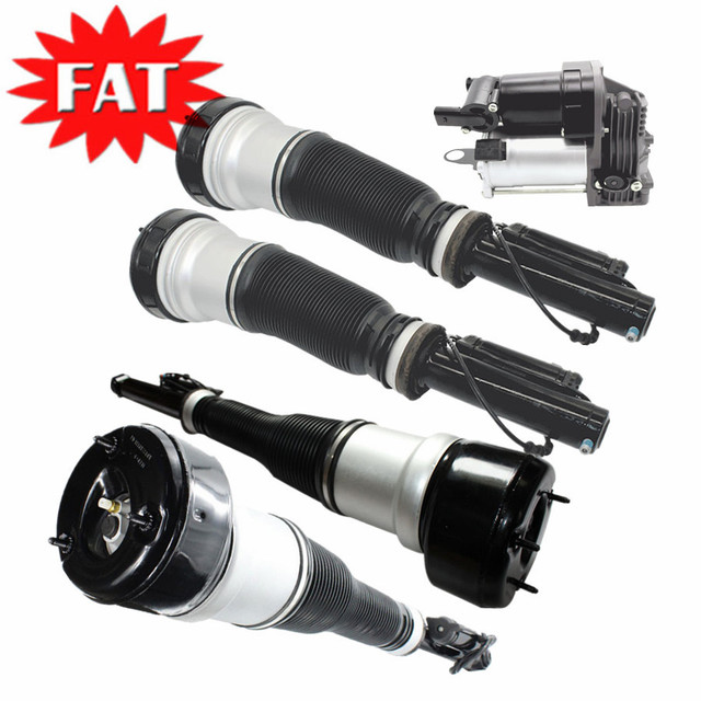 5 PCS Front Rear Shock Absorber Air Suspension Compressor For Mercedes S Class W221 S350 S500 2213209313 2213205513 2213205613