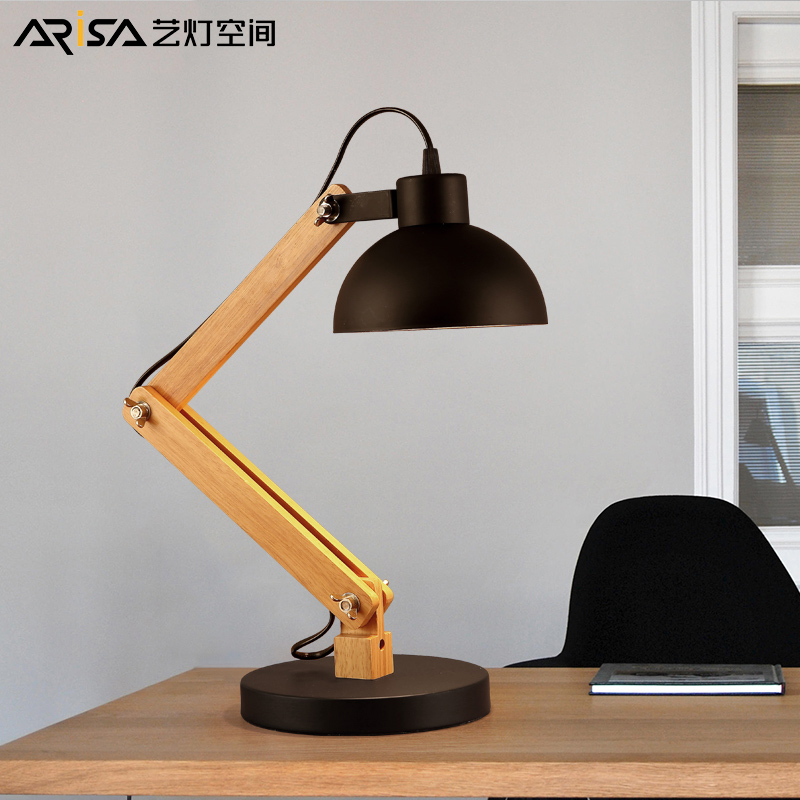 Modern LED Nordic Wooden Table Lamps Bedroom Fixtures Decoration Bedside Lamps Iron Lighting Study Lamps Creative desk Lamps vemma acrylic minimalist modern led ceiling lamps kitchen bathroom bedroom balcony corridor lamp lighting study