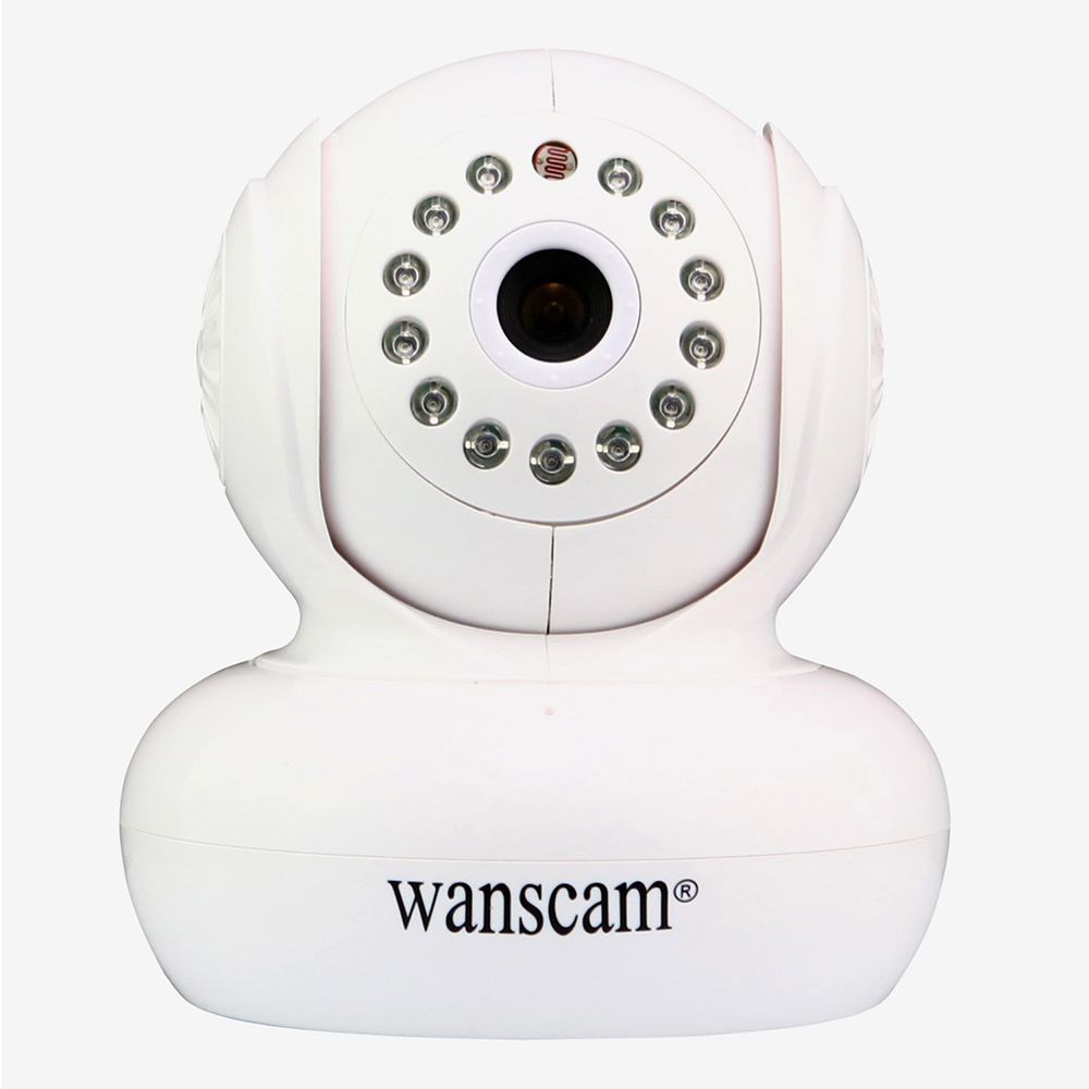 White Wanscam 1.0MP HD 720P IP Camera TF-Card IR-Cut Dome Security Camera Home Wireless Network Camera wanscam hw0024 1 0 mega px 720p hd tf card ir cut security ip camera