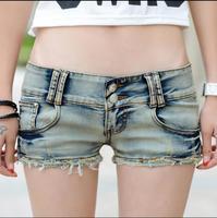 2017 de Moda de verano sexy girls mujeres Discotecas Discoteca femenina recta Nostalgia vaqueros Elásticos pantalones cortos de Mezclilla ropa ropa