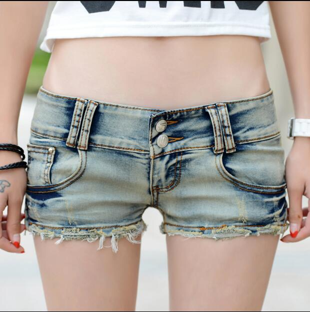 2018 verano moda sexy mujer niñas mujeres clubes nocturnos del disco recta nostalgia elástico jeans Denim shorts ropa