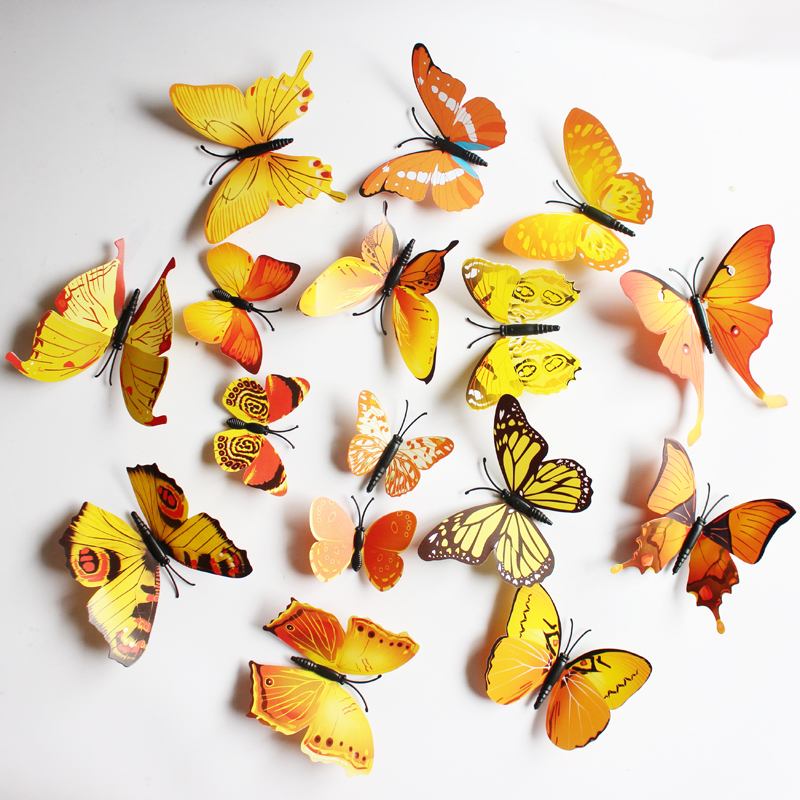 Magnificent 3d Butterflies Wall Decor Ensign - Wall Art Collections ...