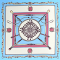 100% Bufanda de Seda Bufanda de Las Mujeres Foulard Pañuelo Pañuelo Pequeño Cuadrado de Seda Bufanda de Seda Pura de Lujo Superior Regalo de La Señora