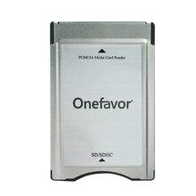 Alta qualidade!! Leitor de cartão do adaptador de cartão do sd onefavor pcmcia para a memória mp3 do benz de mercedes