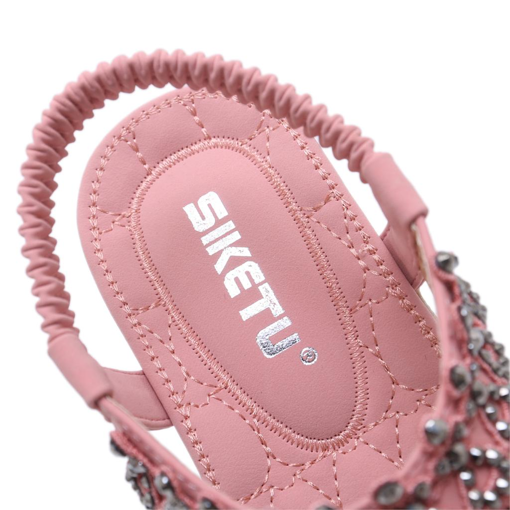 SIKETU New Ethnic Sandals Bohemian Rhinestone Flowers Diamond Large Size 42  Flat Sandals Summer Sandals Flip Flops Shoes Women-in Low Heels from Shoes  on ... 56ad294588ee
