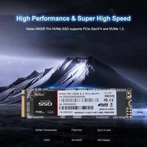 Image 3 - Netac N930E פרו M.2 2280 SSD NVMe PCIe Gen3 * 4 128GB 256GB 512 GB הפנימי כונן 128 256 512 GB SSD כונן קשיח דיסק