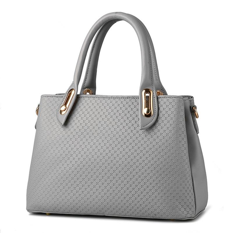 c6bf7a9ca80f Elegant Light Grey PU Casual Office Lady Business Handbag Clutch Fashion  Women Shoulder Bag Zipper-in Shoulder Bags from Luggage   Bags on  Aliexpress.com ...