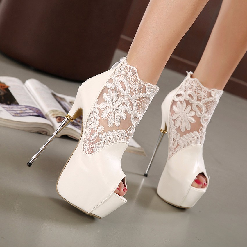 ФОТО 2017 Sexy High Heels Platform Shoes Fashion Women Open Toe Wedding Summer Shoes Gladiator  Ladies Chic Sandals
