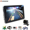 TOPSOURCE 7'' Car GPS Navigation Android 4.4.2 16GB/512MB MT8127A WIFI FM Europe/ Spain/ France gps navigator Russia Navitel map