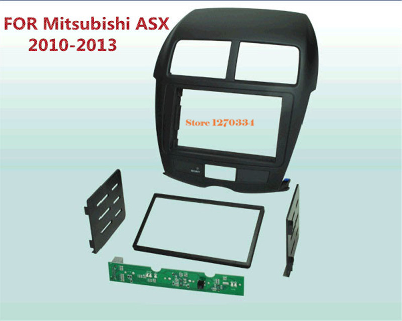 2 Din Frame Kit / carro fascia / Car Fascia Panel / Audio Panel Frame / Dash Kit For Mitsubishi Mirage 2012 2013 Free Shipping ityaguy fascia for ford ranger 2011 stereo facia frame panel dash mount kit adapter trim