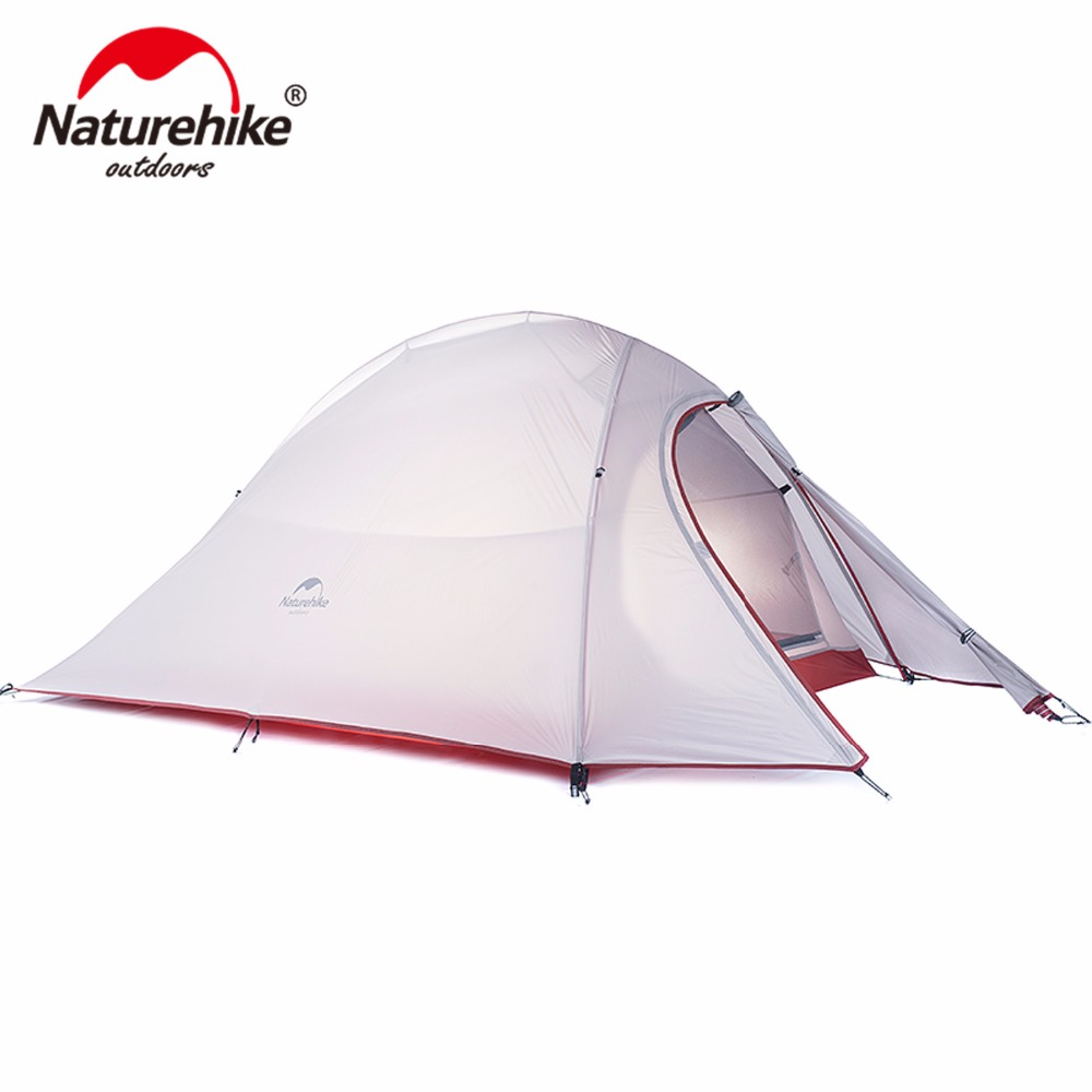 Naturehike CloudUp Series Ultralight Hiking Tent 20D/210T Fabric For 2 Person With Mat NH15T002-T high quality outdoor 2 person camping tent double layer aluminum rod ultralight tent with snow skirt oneroad windsnow 2 plus