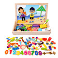 Multifunctional Wooden Animal Magnetic Puzzle Drawing Board Learning & Education Toys Hobbies for Children letters toys    CU106