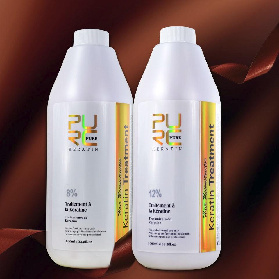 shampoo and keratin 8% and 12%