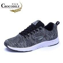 Мужские кроссовки из крокодиловой кожи; спортивная обувь для тенниса; Hombre; сетчатая Мужская обувь для тренировок; Мужская Спортивная обувь на плоской подошве для бега; кроссовки
