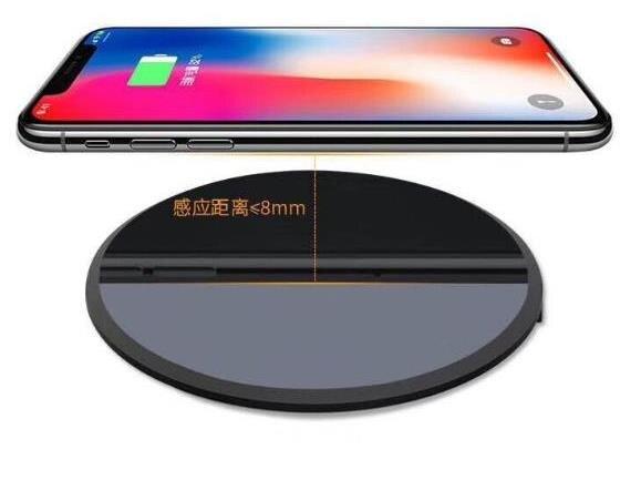 QI Wireless Ultra-sottile Caricatore Del Telefono Mobile Caricatore Senza Fili di Ricarica 10 w-1500mA Round Wireless Veloce