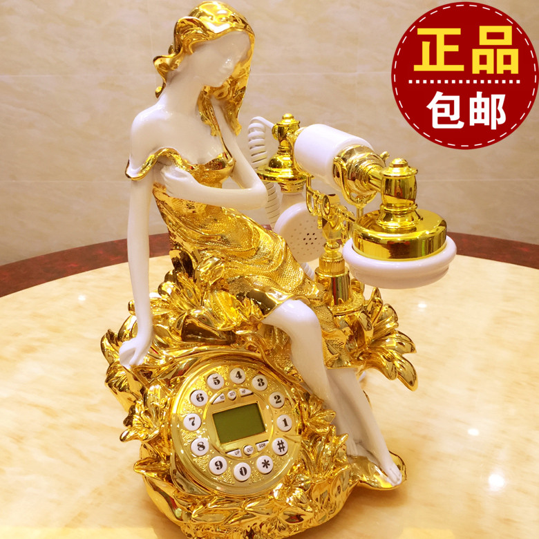 European American retro Dong antique telephone office household telephone fixed landline pastoral fashion Decoration home Dial