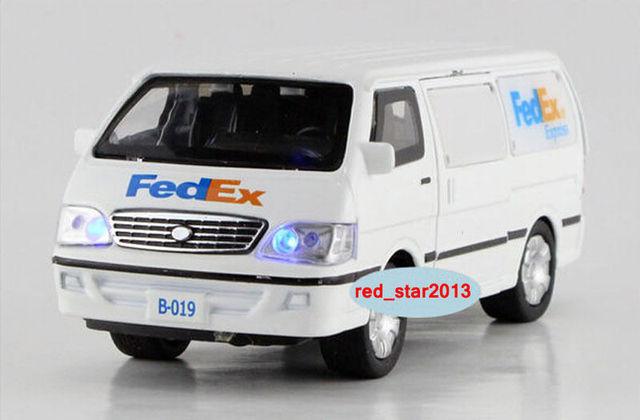 FEDEX 1/32 Aleación Diecast Modelo de Juguete Camión Blanco Express Truck Car Toys Regalos de Colección