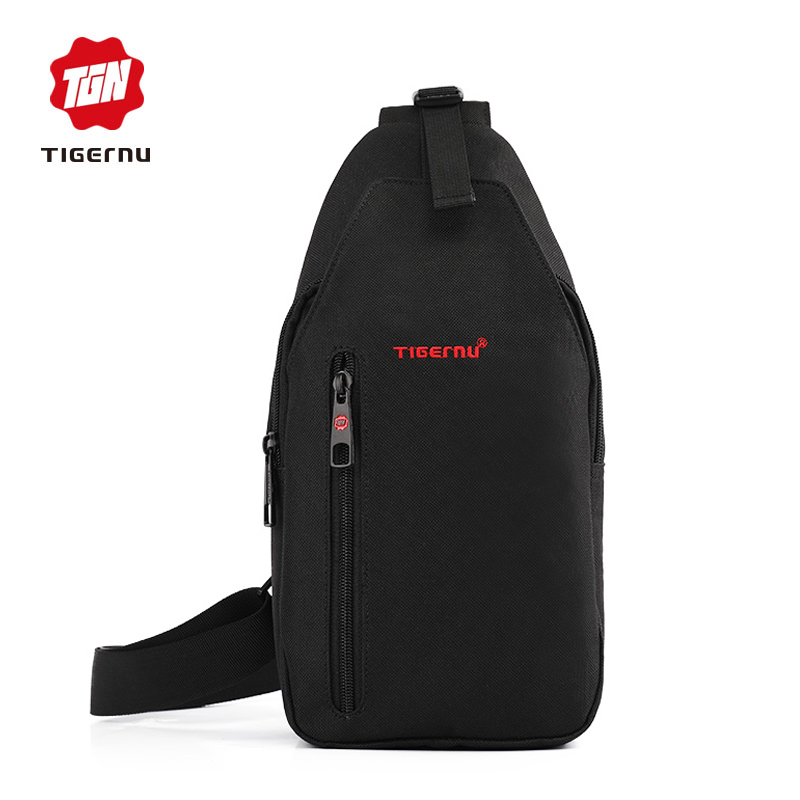 2017 Tigernu Men Crossbody Bag Splashproof  Brand Messenger Bag Mini Ipad Mobile  Money Phone Belt  Chest Bag  Small Chest Bag