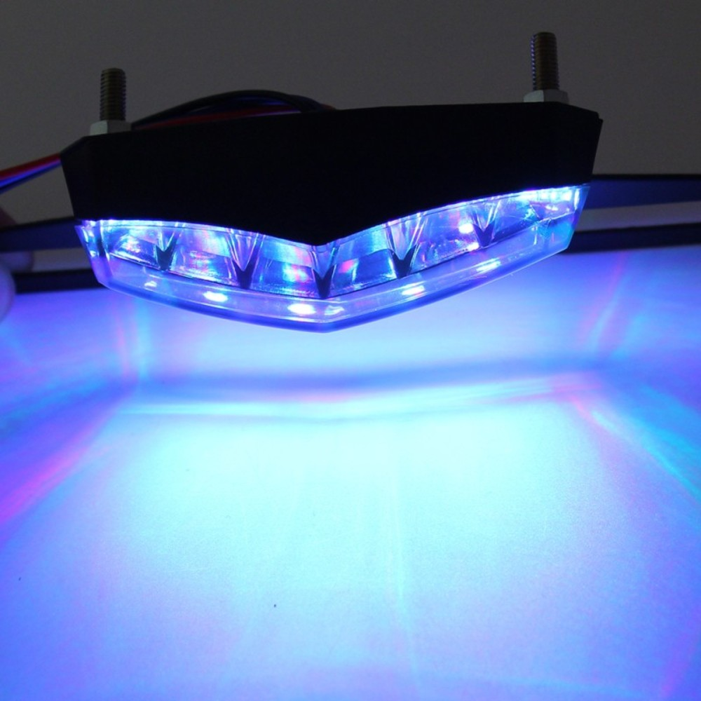 MALUOKASA Motorcycle Tail Lamp Brake Stop Lighting Indicator Motocross LED License Plate Light Universal For Harley Kawasaki