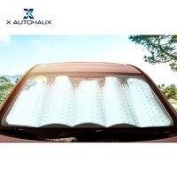X AUTOHAUX Laser Film Car Window Sun Shade Foldable Windshield Sunshade Visor For Heat Block UV