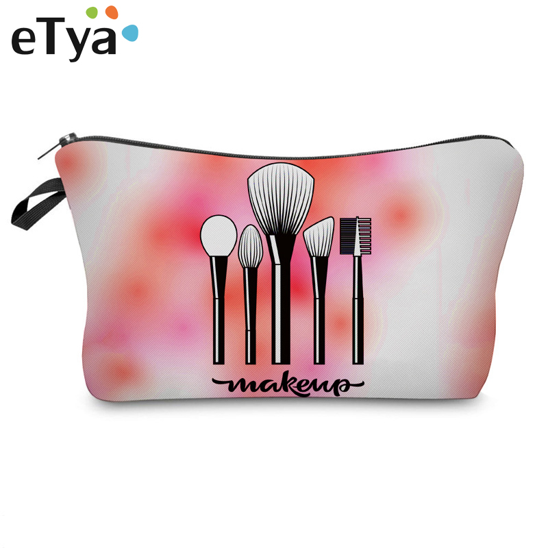 eTya Women Christmas Cosmetic Bag Travel Organizer Beauty Makeup Bag Fashion Women Brand Make Up Wash Pouch Toiletry Bags Case etya makeup bags canvas women cosmetic bag organizer pouch bag for travel necessary beauty case fashion portable document bags