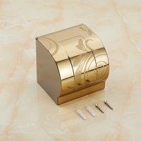 Stainless Steel toilet paper roll holder paper towel rack gold plated, European antique bathroom waterproof tissue box holder