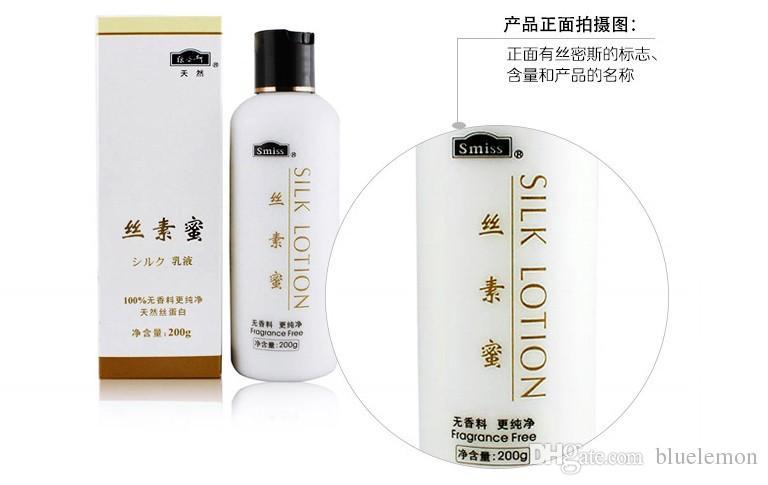 Vendedor quente de seda loção HIDRATANTE CREME PARA o rosto creme para o corpo 100% orignal 100% fragrância natural livre de proteína da pele ..