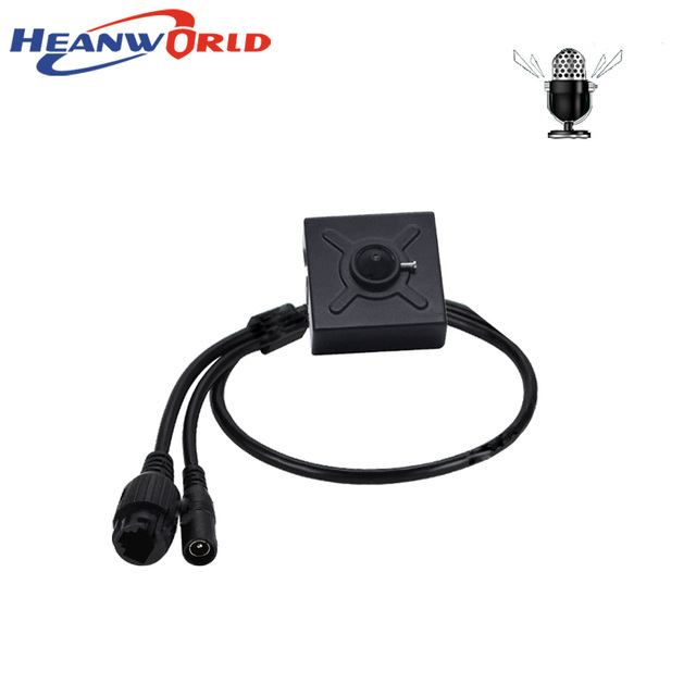 Heanworld IP Camera PoE 1080P mini camera indoor with microphone audio HD security camera 3.7mm lense P2P support IE Browser