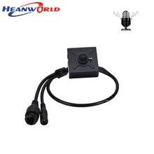 Heanworld mini caméra de surveillance intérieure IP PoE HD 1080P, dispositif de sécurité avec microphone, audio, lentille de 3.7mm, protocole P2P, navigateur IE