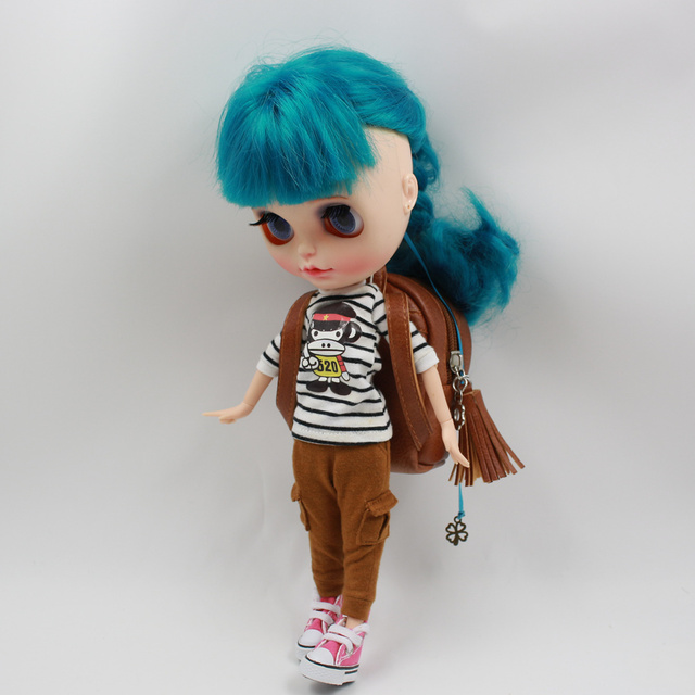 Neo Blythe Doll Leather Backpack