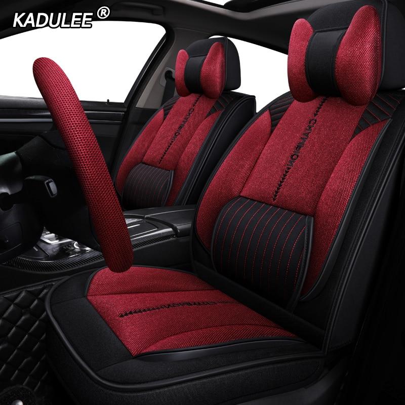 KADULEE housse de siège Auto en lin pour kia venga optima opel meriva chevrolet aveo optra skoda fabia pour toyota mark housse de voiture
