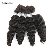 Rebecca перуанских Девы волос Свободные волна Связки 100% Человеческие волосы Weave Связки плетение объемных волос можно купить 3/4 пучки