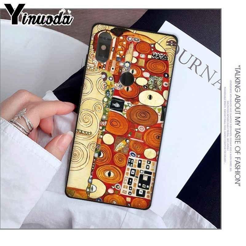 Yinuoda Nụ Hôn do Gustav Klim Vàng Nước Mắt Cây Ốp Điện Thoại TPU dành cho Tiểu Mi Mi Note 3 6 8 8SE mi X 2 2 S Đỏ MI 5 Plus Note 5