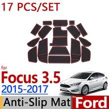 Для Ford Focus Противоскользящий резиновый коврик для чашки 17 шт. MK3.5 аксессуары для подтяжки лица наклейки для автомобиля
