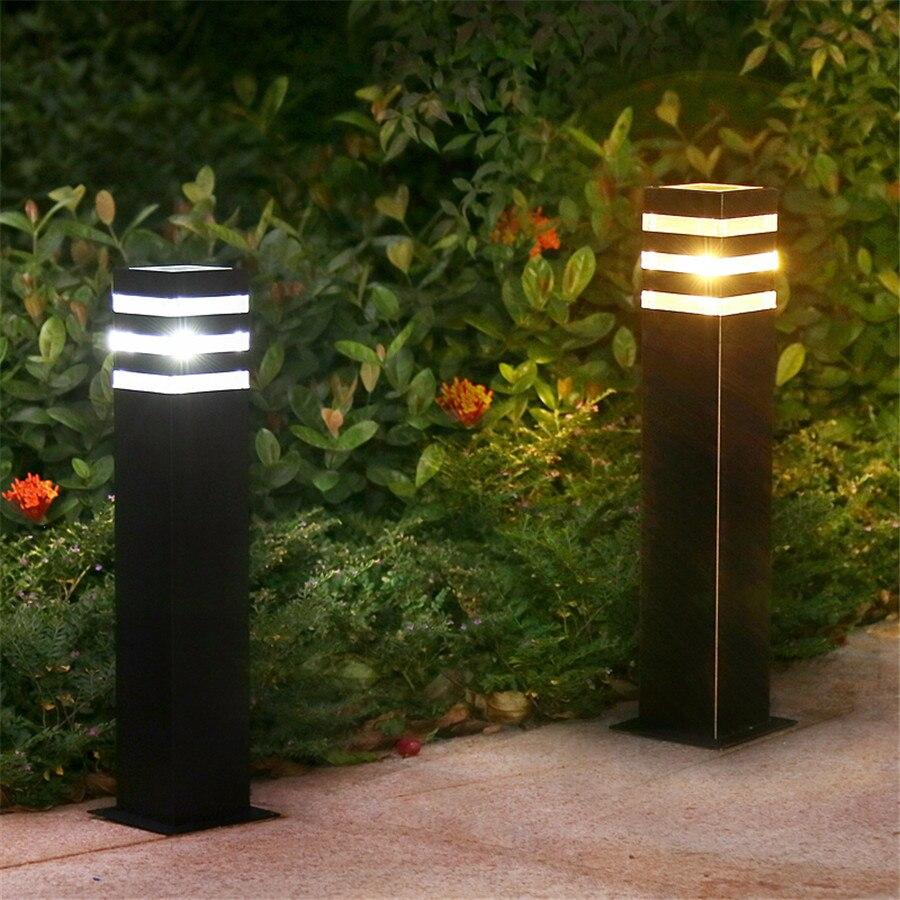BEIAIDI E27 современные водонепроницаемые ворота сад уличная газонная лампа вилла забор путь световой столб пейзаж стенд полюс лампа колонна